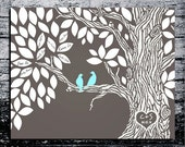 Wedding Guest Book .wedding tree--  To Be Personalized With Guest's Signatures - 17x22 - 50-60 Signature Guestbook