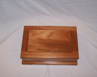 Genuine Mahogany Jewelry Box from our Prestige Collection 15''x10 1/4''x5''