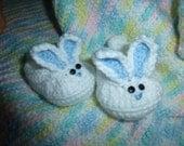 Baby Boy Bunny Booties