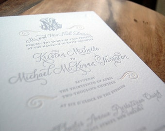 Letterpressed Wedding Invitations - Orleans