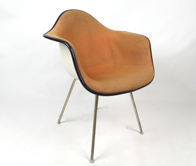 herman miller eames fiberglass chair orange by. Black Bedroom Furniture Sets. Home Design Ideas