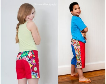 Long Beach Board Shorts pattern boys girls unisex 3-6m 6-12m 12-18m 18-24m 2t 3t 4t 5t 6 7 8 10 12 14 INSTANT DOWNLOAD