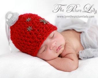 Baby Christmas Hat, Newborn Ornament Hat,  Newborn Christmas Hat, Crochet Newborn Baby Hat PHOTO PROP