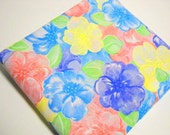 Floral Print Fabric, 1 Yd Vintage Remnant, Wamsutta Fabrics, Sewing Notions