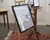 Wedding Guest Book Tree, Wedding Guestbook, Unique Guestbook, Guestbook Alternative, Guest Book Poster, Purple Wedding, Wedding Keepsake