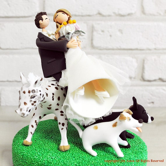 Horseback Riding Cake Topper