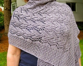 Knit Wrap Pattern:  Love Mother Nature Lace Shawl Knitting Pattern