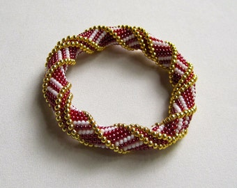 Bead Crochet Bangle Pattern:  Stairway to Heaven Variations 1 and 2 Bead Crochet Pattern