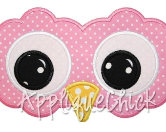 Owl Face Applique Design