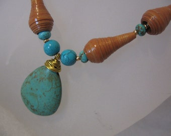 Recycled paper bead jewelry-