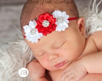 Christmas Headband, Christmas baby Headband, baby headbands, newborn headband, baby girl headband, valentines headband, Baby Hair Bows.