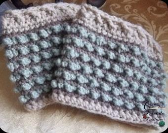 Crochet Pattern, Bubble Boot Cuff