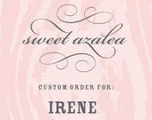 custom listing for Irene