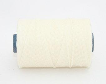 Waxed Irish Linen Thread 10 yards White 4 Ply