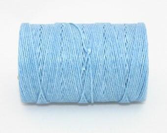 Waxed Irish Linen Thread Robin Egg Blue Baby Blue 4 Ply