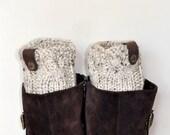 BOOT CUFFS Socks Button Leg Warmers Buckle Boot Socks  Oatmeal Beige Wheat Nature Knit Gift under 50