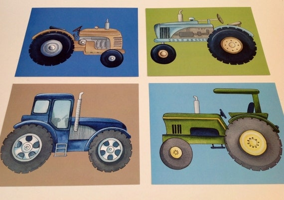 Tractor art tractor bedding art children von theprincessandpea