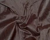 Silk Dupioni in  Chocolate Brown , Fat Quarter- D 50