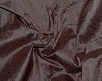 Silk Dupioni in  Chocolate Brown , Fat Quarter- D 50 A