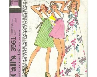 McCalls 3561 1970s Dress & Dance Pants