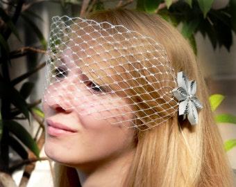 Silver Wedding Veil