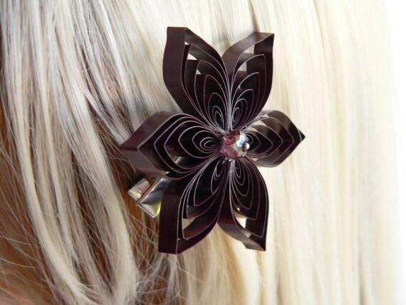 Burgundy Wedding Hair Clip Wine Wedding Hair Accessory