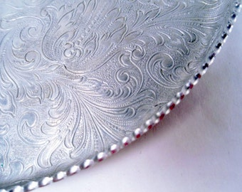 Aluminum Hand Wrought Tray Vintage 40s