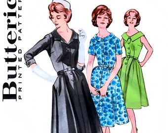 Butterick 9304 Vintage 60s Misses' Dress Sewing Pattern - Uncut - Size 16 - Bust 36