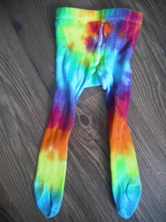 tie dye swirly tights upcycled