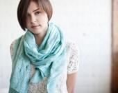 Mint scarf cobweb shawl scarf for all seasons felting wool luxury cape wedding bridesmaid idea winter fashion