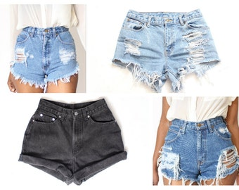ALL SIZES Limited Time Only 4 for 1 Get 4  Custom Made High Waist Shorts