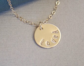 Personalized Loved Necklace, Sterling Silver Gold Filled Necklace,  Name Necklace, Initial Necklace, Mother's Necklace, Family Jewelry