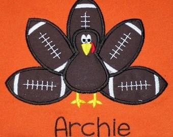 Football Turkey Shirt- Thanksgiving- Orange or White