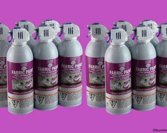 Simply Spray Upholstery Fabric Spray Paint - Dries Soft, Permanent - LAVENDER - 12 PACK