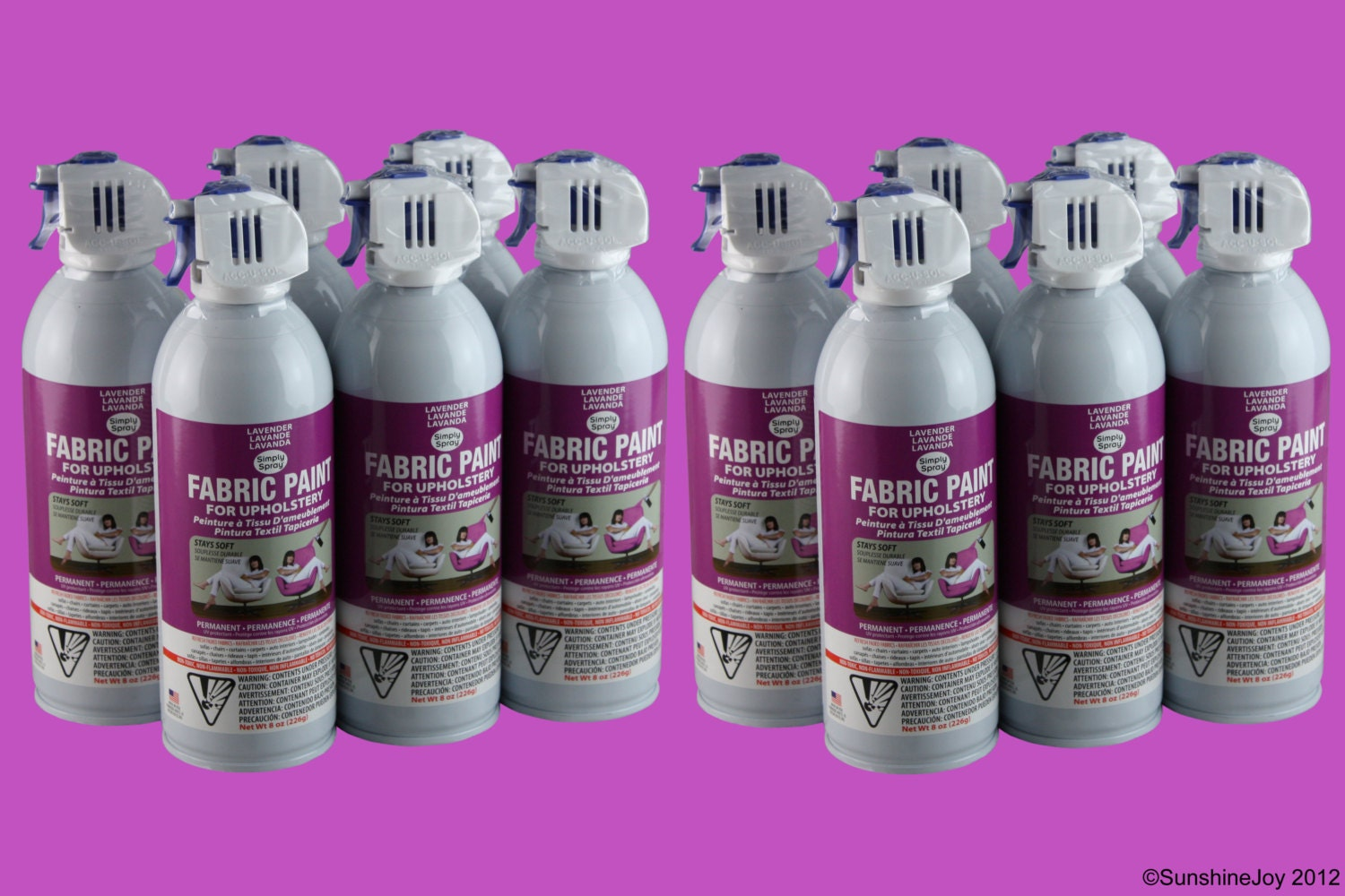 simply spray upholstery fabric spray paint dries soft permanent lavender 12 pack from. Black Bedroom Furniture Sets. Home Design Ideas