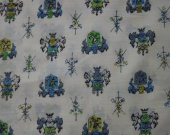 Coat of Arms Vintage Fabric