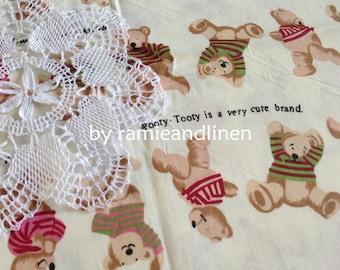"cotton fabric, Teddy Bears print, half yard by 62"" wide"