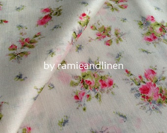 "Tender,  Japanese cotton fabric, floral print fine silky cotton fabric, half yard by 48"" wide"
