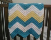 Crochet Chevron crib baby toddler blanket pattern