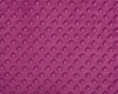 Raspberry Cuddle Dimple Dot Minky by Shannon Fabrics, 1 yard