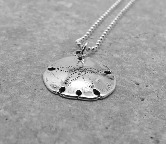 Sterling silver sand dollar necklace sand dollar jewelry like this item aloadofball Images