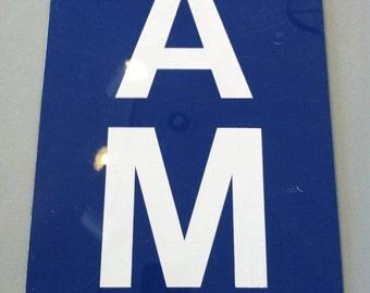 1960s AM sign