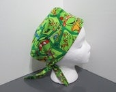 Ninja Turtles 2 in 1 Chemo/Pixie Surgical Scrub Cap