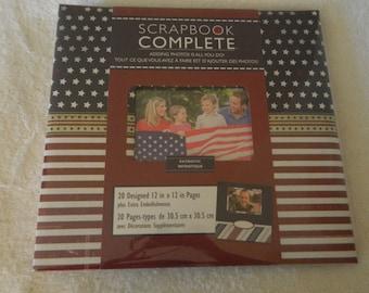 Patriotic 12 x 12 Premade Scrapbook Album