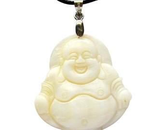 Talisman Natural Sea Shell Tibet Buddhist Buddha Amulet Pendant 35mm x 32mm  T0730