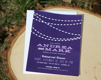 Rehearsal Dinner Invitation - String Lights