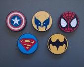 Large Superhero Magnets (5) - Industrial Strength