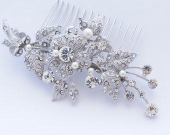 Wedding hair comb pearl bridal comb wedding hair jewelry bridal hair comb wedding accessory bridal hair piece wedding headpiece bridal comb