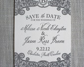 Lace Letterpress Save the Date