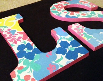 Lilly Pulitzer Inspired Letters - Spring Fling